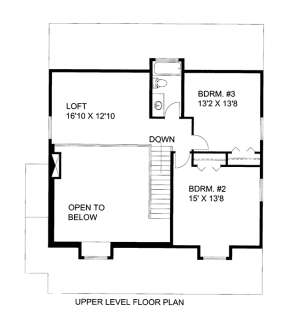 Upper Floor Plan for House Plan #039-00591