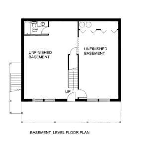 Basement Floor Plan for House Plan #039-00591