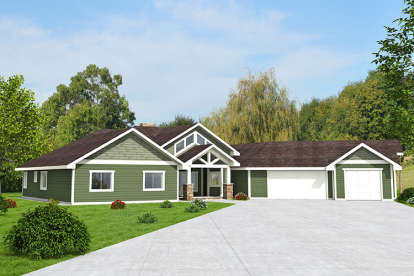 3 Bed, 2 Bath, 2983 Square Foot House Plan - #039-00598