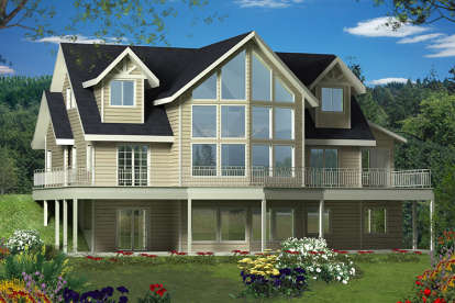 3 Bed, 2 Bath, 2433 Square Foot House Plan #039-00619