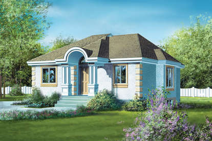 2 Bed, 1 Bath, 1033 Square Foot House Plan #6146-00034
