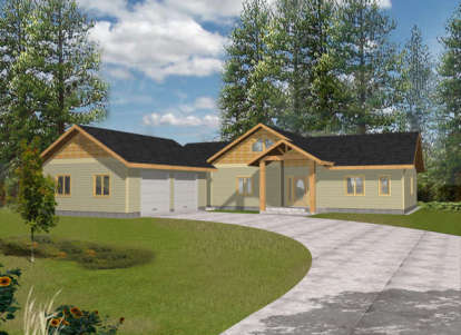 2 Bed, 2 Bath, 1892 Square Foot House Plan - #039-00391