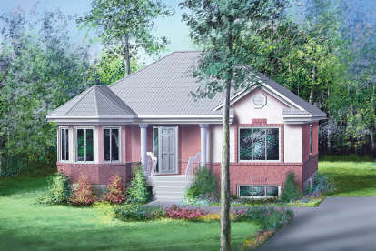 2 Bed, 1 Bath, 1115 Square Foot House Plan - #6146-00052