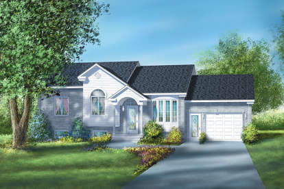 2 Bed, 1 Bath, 1074 Square Foot House Plan - #6146-00053