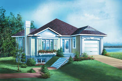 3 Bed, 2 Bath, 1513 Square Foot House Plan - #6146-00057