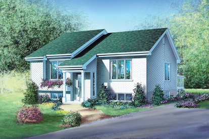 2 Bed, 1 Bath, 994 Square Foot House Plan - #6146-00062