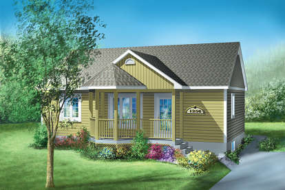 2 Bed, 1 Bath, 900 Square Foot House Plan - #6146-00066