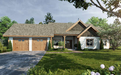 3 Bed, 2 Bath, 1416 Square Foot House Plan - #1907-00026