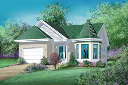 2 Bed, 1 Bath, 1056 Square Foot House Plan - #6146-00079