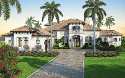 6 Bed, 6 Bath, 6574 Square Foot House Plan - #207-00021