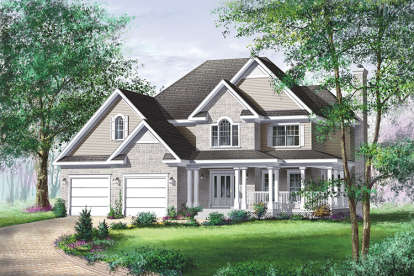 3 Bed, 2 Bath, 2461 Square Foot House Plan - #6146-00094