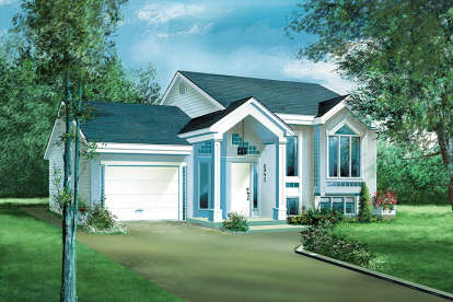 2 Bed, 1 Bath, 1442 Square Foot House Plan - #6146-00105