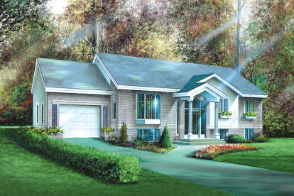 2 Bed, 1 Bath, 1116 Square Foot House Plan - #6146-00106