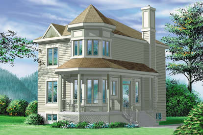 2 Bed, 1 Bath, 1429 Square Foot House Plan - #6146-00116