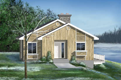 2 Bed, 1 Bath, 946 Square Foot House Plan - #6146-00127