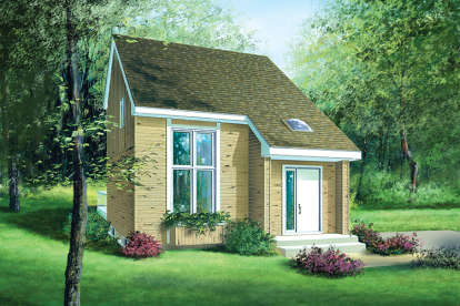 2 Bed, 1 Bath, 1113 Square Foot House Plan - #6146-00144