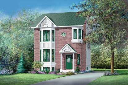 2 Bed, 1 Bath, 1383 Square Foot House Plan - #6146-00152