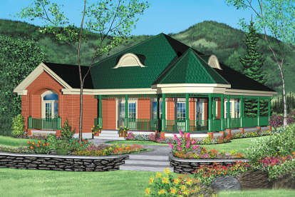 3 Bed, 2 Bath, 1929 Square Foot House Plan - #6146-00154