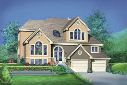 5 Bed, 2 Bath, 2935 Square Foot House Plan - #6146-00157