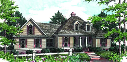 3 Bed, 2 Bath, 1704 Square Foot House Plan #048-00092