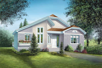 2 Bed, 1 Bath, 1144 Square Foot House Plan - #6146-00160