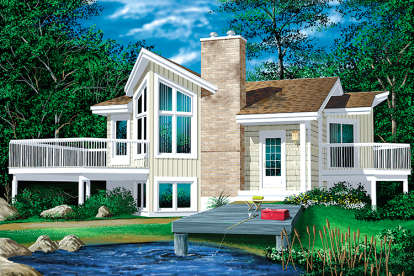 1 Bed, 1 Bath, 772 Square Foot House Plan - #6146-00177