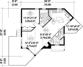 Main Floor Plan for House Plan #6146-00177