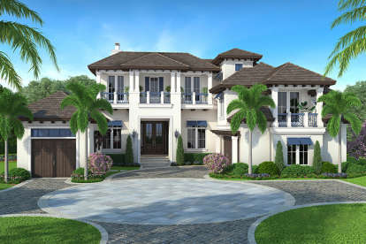 5 Bed, 5 Bath, 6833 Square Foot House Plan - #1018-00246