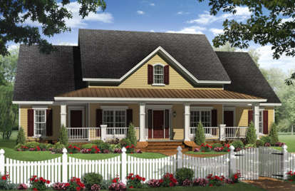 4 Bed, 2 Bath, 2336 Square Foot House Plan #348-00256
