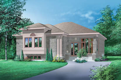 3 Bed, 1 Bath, 1348 Square Foot House Plan - #6146-00187