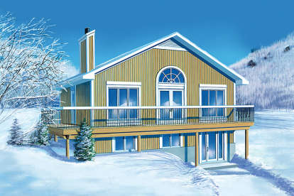 2 Bed, 2 Bath, 1920 Square Foot House Plan - #6146-00203