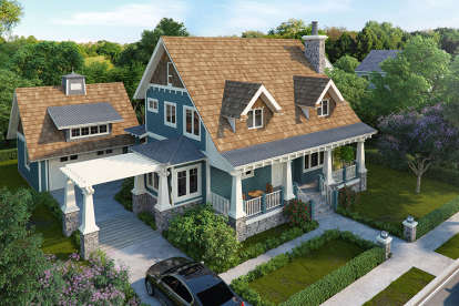 3 Bed, 3 Bath, 1825 Square Foot House Plan #1907-00031