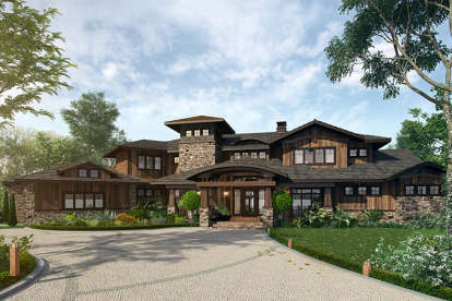 4 Bed, 4 Bath, 4520 Square Foot House Plan - #1907-00032