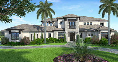 5 Bed, 5 Bath, 7295 Square Foot House Plan - #207-00026