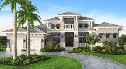 4 Bed, 4 Bath, 3996 Square Foot House Plan #5565-00017