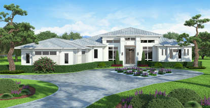 5 Bed, 5 Bath, 4918 Square Foot House Plan #207-00035