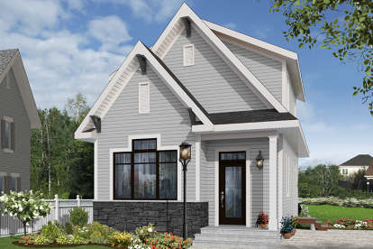 2 Bed, 2 Bath, 943 Square Foot House Plan - #034-01074