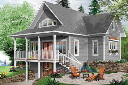 4 Bed, 3 Bath, 2105 Square Foot House Plan - #034-01079