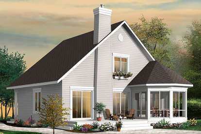 4 Bed, 2 Bath, 1811 Square Foot House Plan - #034-01080