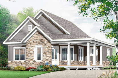 3 Bed, 2 Bath, 1847 Square Foot House Plan - #034-01081