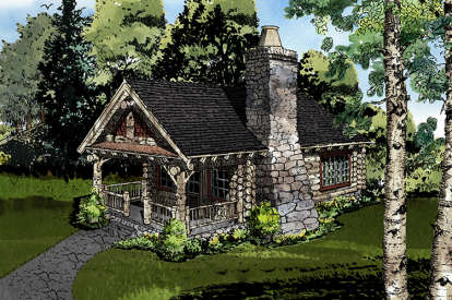 1 Bed, 1 Bath, 360 Square Foot House Plan - #1907-00036