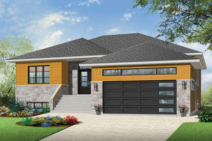 2 Bed, 2 Bath, 1600 Square Foot House Plan - #034-01095