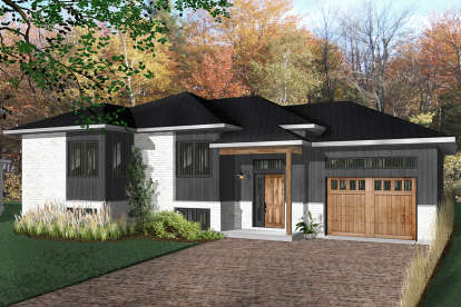 2 Bed, 1 Bath, 1105 Square Foot House Plan - #034-01097