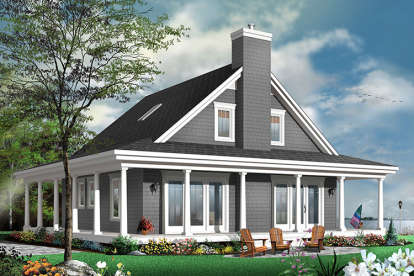 4 Bed, 3 Bath, 1857 Square Foot House Plan - #034-01099