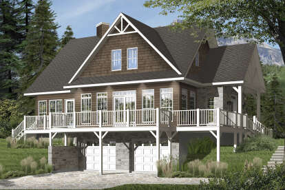 4 Bed, 3 Bath, 2340 Square Foot House Plan #034-01112