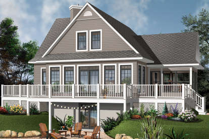 4 Bed, 3 Bath, 2416 Square Foot House Plan - #034-01113