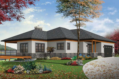 4 Bed, 2 Bath, 2890 Square Foot House Plan - #034-01115