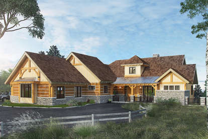 3 Bed, 3 Bath, 4100 Square Foot House Plan - #1907-00038