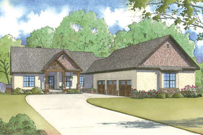 4 Bed, 4 Bath, 3697 Square Foot House Plan - #8318-00016