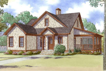 3 Bed, 2 Bath, 1559 Square Foot House Plan - #8318-00017